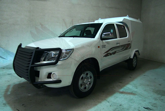 Armoured CIT Vehicle Gabon - Toyota Hilux